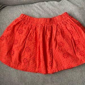 Girls Red/orange skirt